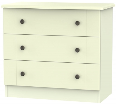 Kingston Cream Chest of Drawer - 3 Drawer