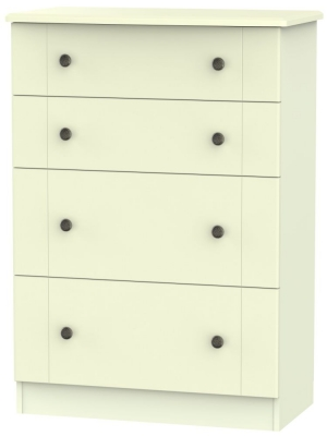 Kingston Cream Chest of Drawer - 4 Drawer Deep