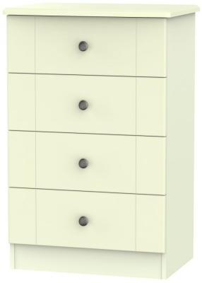 Kingston Cream Chest of Drawer - 4 Drawer Midi