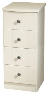 Kingston Cream Chest of Drawer - 4 Drawer Narrow