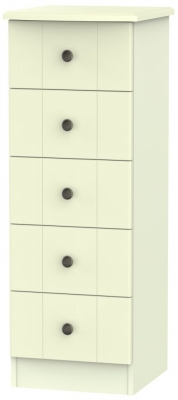 Kingston Cream Chest of Drawer - 5 Drawer Locker