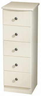 Kingston Cream Chest of Drawer - 5 Drawer Narrow