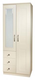 Kingston Cream Wardrobe - 2ft 6in Combination
