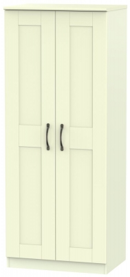Kingston Cream Wardrobe - 2ft 6in Plain