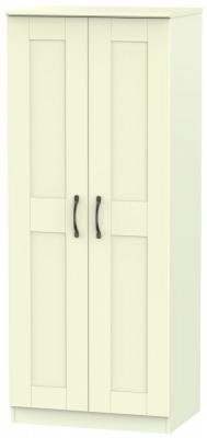Kingston Cream Wardrobe - 2ft 6in Plain