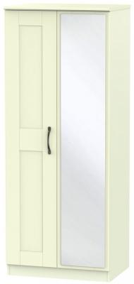 Kingston Cream Wardrobe - 2ft 6in with Mirror