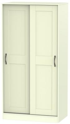 Kingston Cream Wardrobe Sliding - 100cm Wide