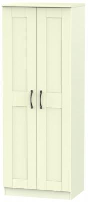 Kingston Cream Wardrobe - Tall 2ft 6in Plain