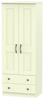 Kingston Cream Wardrobe - Tall 2ft 6in with 2 Drawer