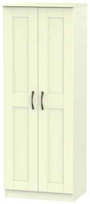 Kingston Cream Wardrobe - Tall 2ft 6in with Double Hanging
