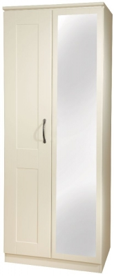 Kingston Cream Wardrobe - Tall 2ft6in Mirror