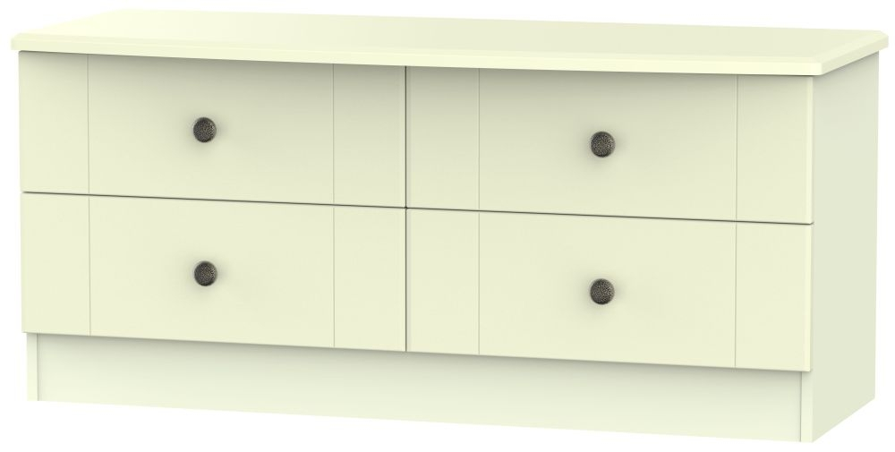 Kingston Cream Bed Box - 4 Drawer