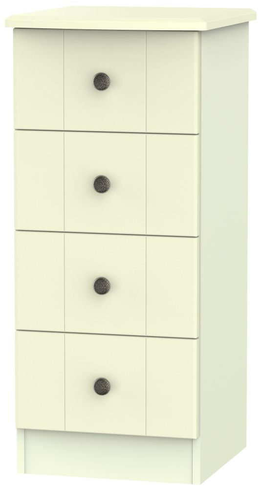 Kingston Cream Chest of Drawer - 4 Drawer Locker