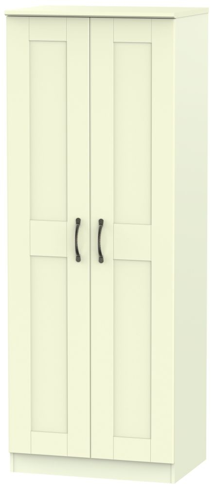 Kingston Cream Wardrobe - Tall 2ft 6in Plain