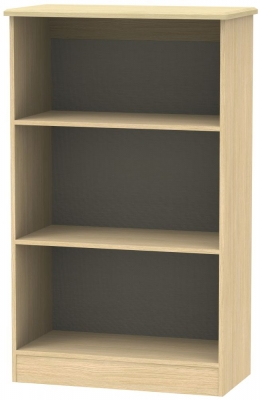 Kingston Light Oak Bookcase - 2 Shelves