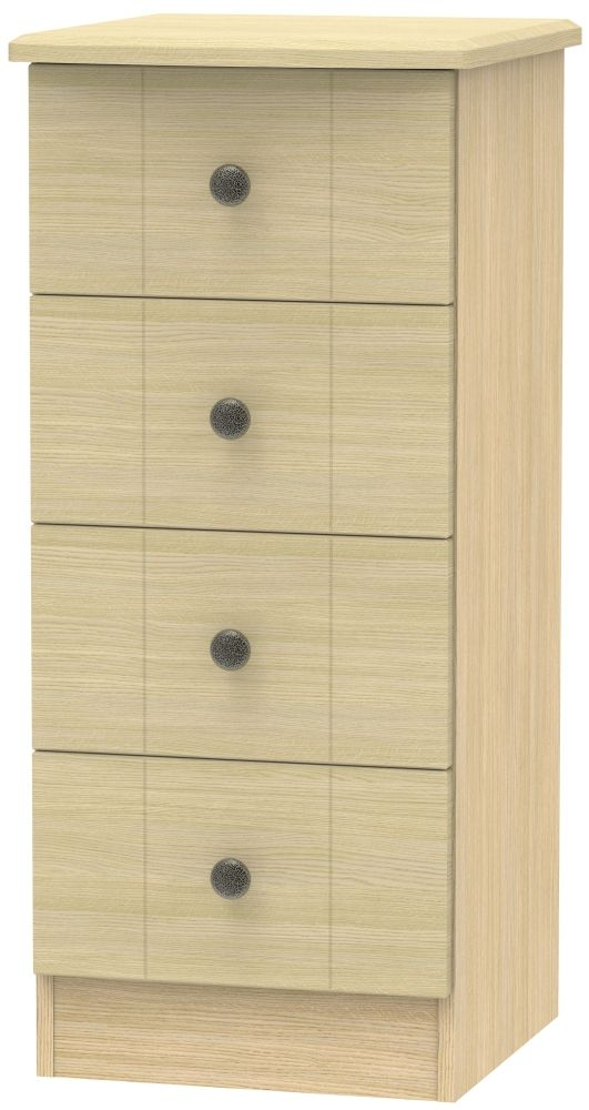 Kingston Light Oak Chest of Drawer - 4 Drawer Locker