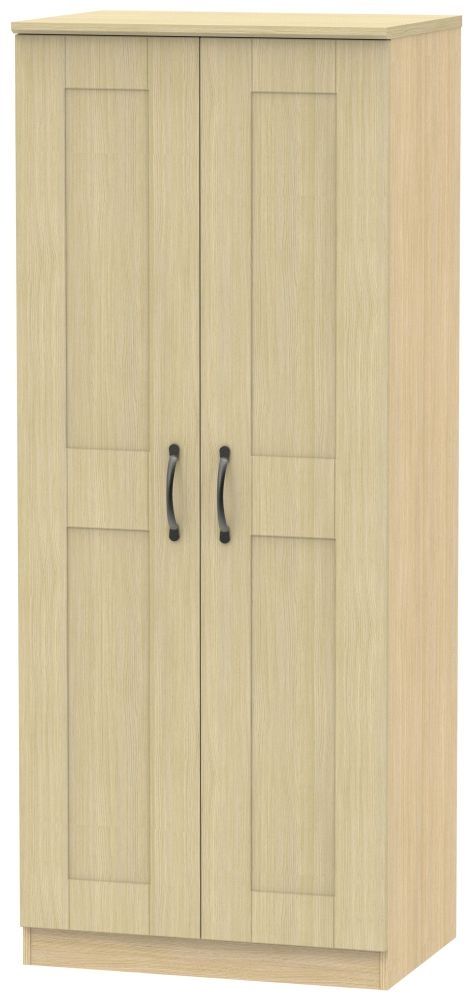 Kingston Light Oak Wardrobe - 2ft 6in Plain