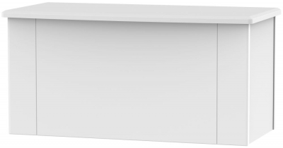 Kingston White Blanket Box