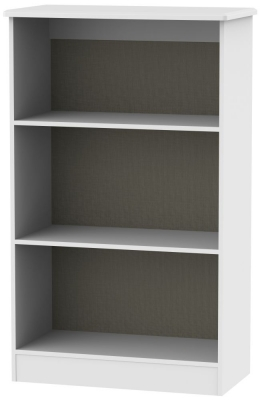 Kingston White Bookcase - 2 Shelves