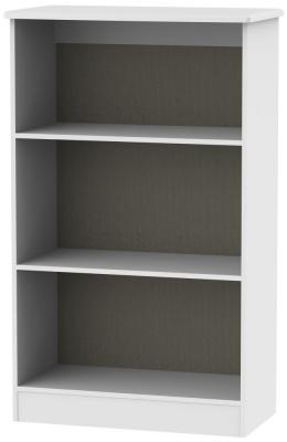 Kingston White Bookcase - 2 Shelves