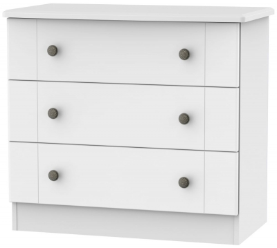 Kingston White Chest of Drawer - 3 Drawer