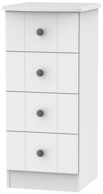 Kingston White Chest of Drawer - 4 Drawer Locker