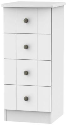 Kingston White Chest of Drawer - 4 Drawer Locker