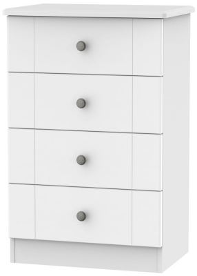 Kingston White Chest of Drawer - 4 Drawer Midi