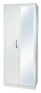 Kingston White Wardrobe - 2ft 6in Mirror