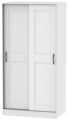 Kingston White Sliding Wardrobe - 100cm Wide