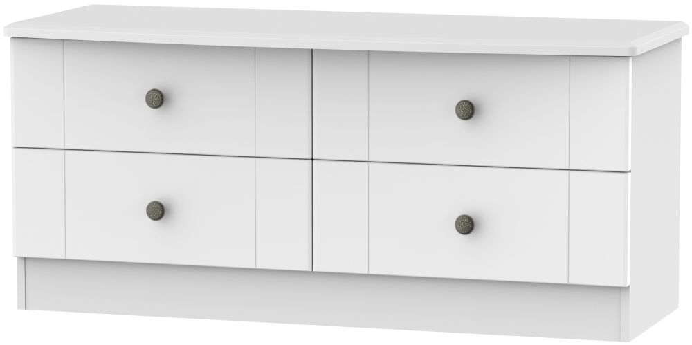Kingston White Bed Box - 4 Drawer