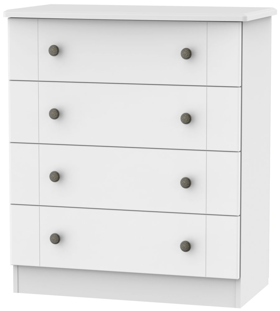 Kingston White Chest of Drawer - 4 Drawer
