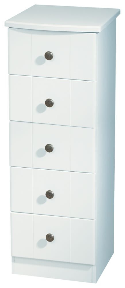 Kingston White Chest of Drawer 5 Drawer Narrow Welcome  : 3 Kingston White Chest of Drawer 5 Drawer Narrow from www.choicefurnituresuperstore.co.uk size 435 x 1000 jpeg 53kB
