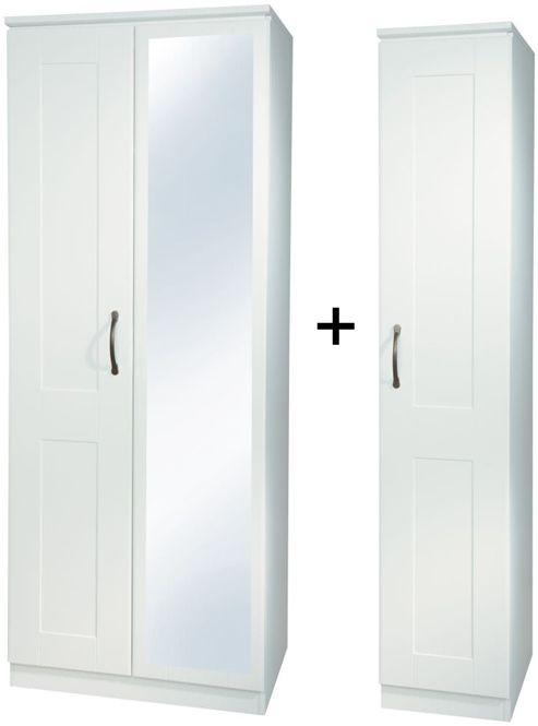 Kingston White Triple Mirror Wardrobe