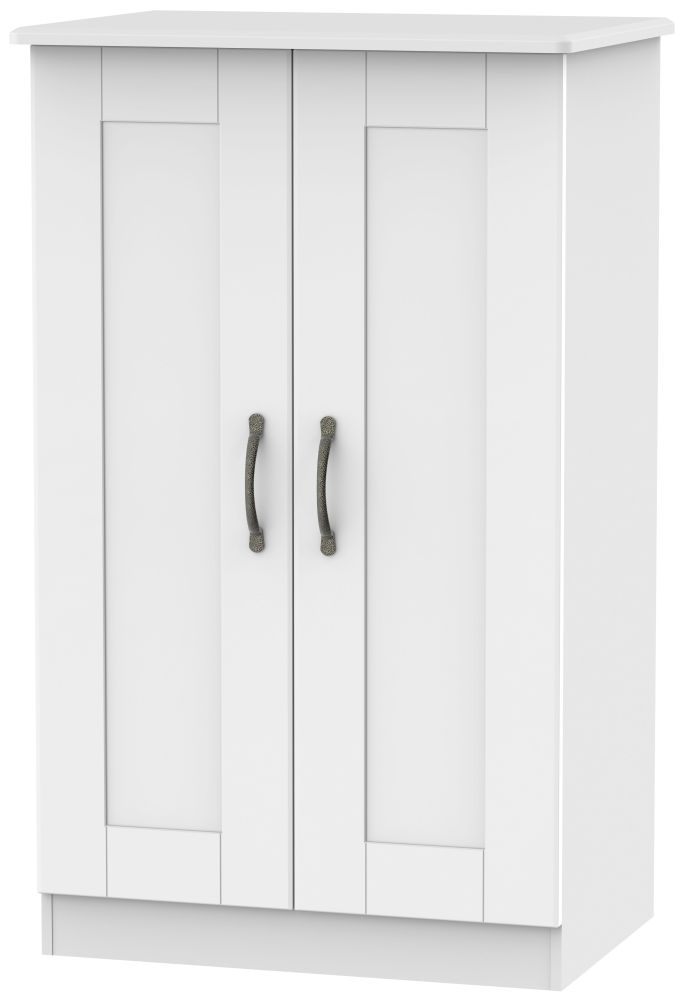 Kingston White Wardrobe - 2ft 6in Plain Midi