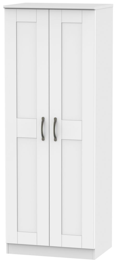 Kingston White Wardrobe - Tall 2ft 6in Plain