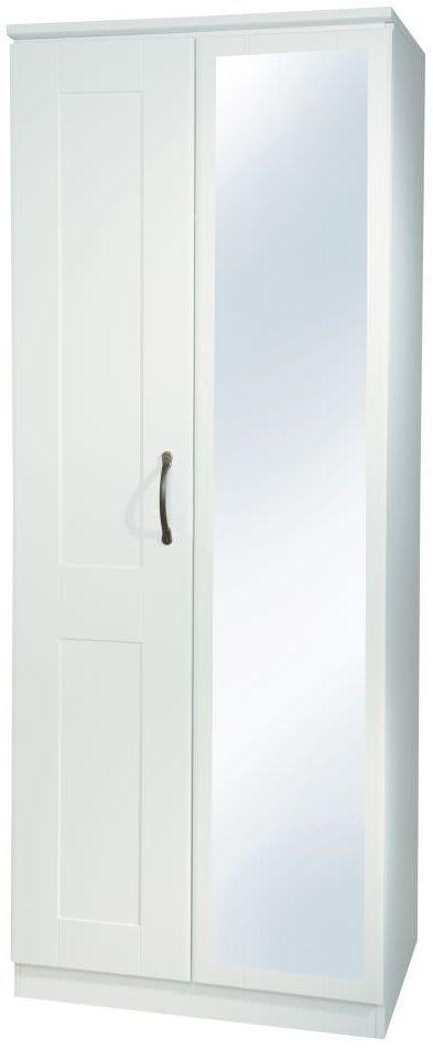 Kingston White Wardrobe - Tall 2ft6in Mirror