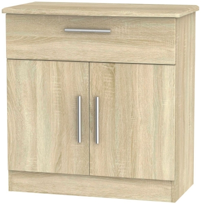 Knightsbridge Bardolino 2 Door 1 Drawer Narrow Sideboard
