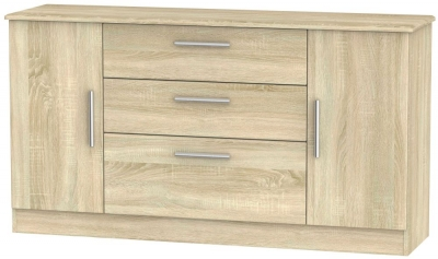Knightsbridge Bardolino 2 Door 3 Drawer Wide Sideboard