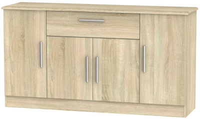 Knightsbridge Bardolino 4 Door 1 Drawer Wide Sideboard