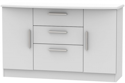 Knightsbridge Grey Matt 2 Door 3 Drawer Sideboard