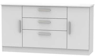 Knightsbridge Grey Matt 2 Door 3 Drawer Wide Sideboard