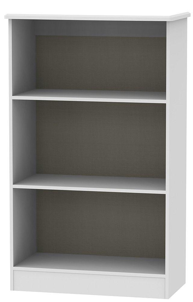 Knightsbridge Grey Matt Bookcase
