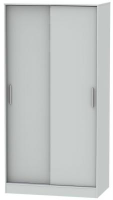 Knightsbridge Grey Matt 2 Door Sliding Wardrobe