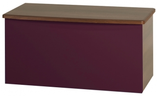 Knightsbridge Aubergine Blanket Box