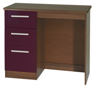 Knightsbridge Aubergine Dressing Table - Vanity Knee Hole