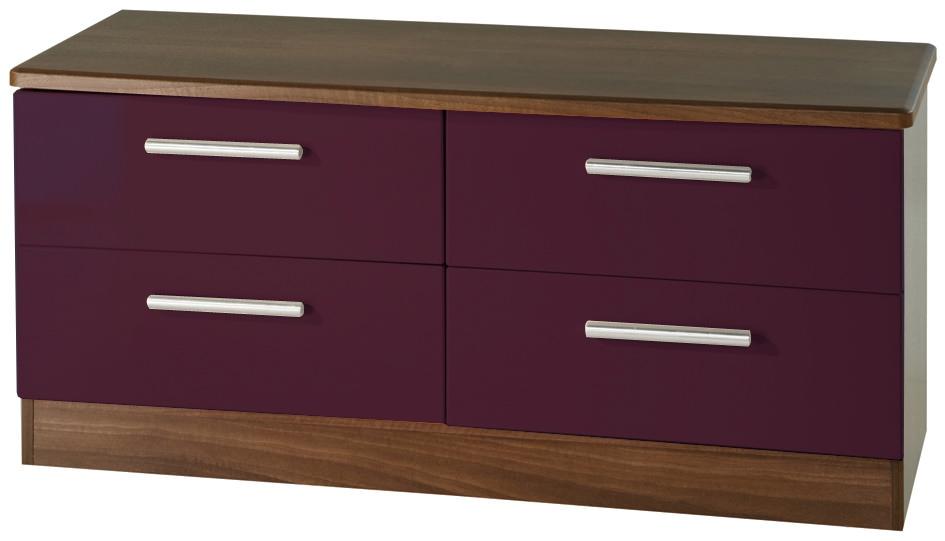 Knightsbridge Aubergine Bed Box - 4 Drawer