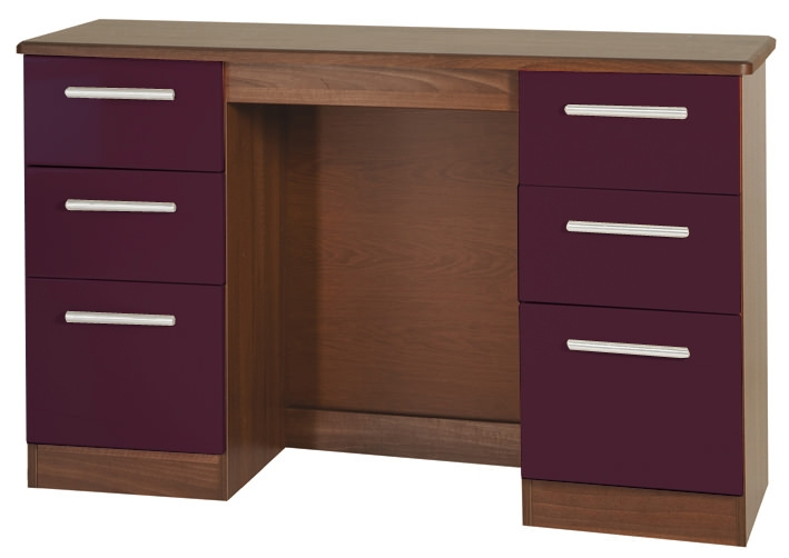Knightsbridge Aubergine Dressing Table - Knee Hole Double Pedestal