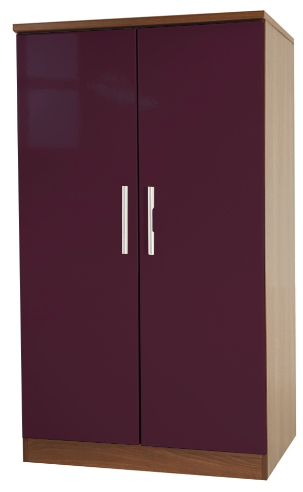Knightsbridge Aubergine Wardrobe - 2ft 6in Plain Midi