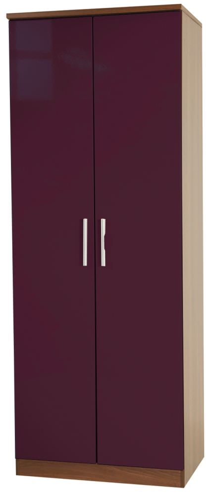 Knightsbridge Aubergine Wardrobe - Tall 2ft 6in Plain